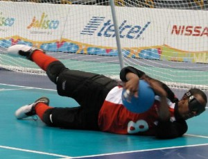 Photo of Goalball player