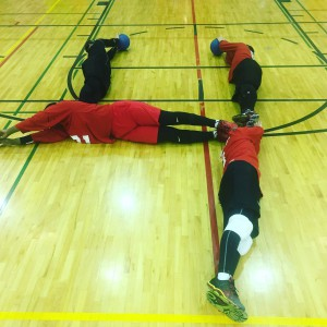 Goalball in shape of 4