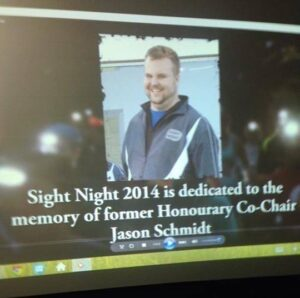 sight night 2014 is dedicated to Jason Schmidt